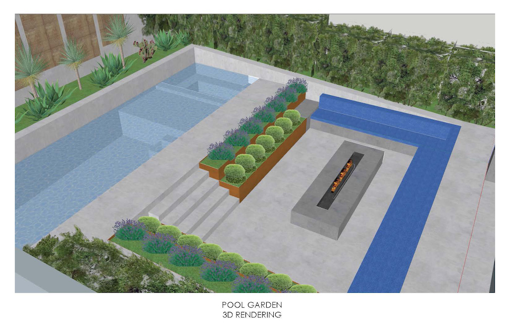 Desert Family Home with Native Sustaintable Pool Garden Landscape Design - by Shawn Maestretti